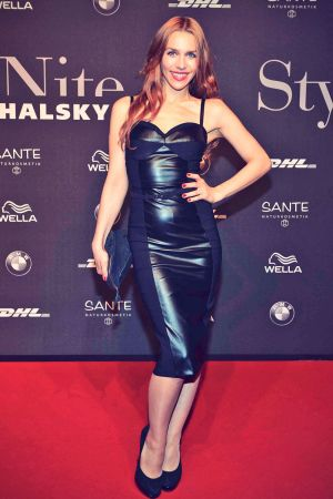 Julia Dietze attends Mercedes-Benz Fashion Week
