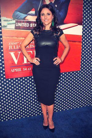 Julia Louis Dreyfus attends the Premiere of HBO VEEP Season 2