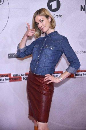 Julia Stinshoff attends German TV Channel Das Erste celebrates