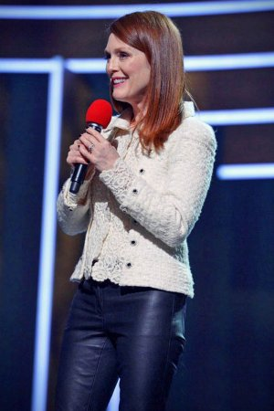 Julianne Moore attends NBC's Red Nose Day Charity
