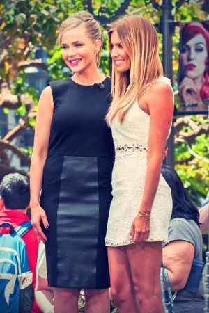 Julie Benz at Extra set candids at The Grove