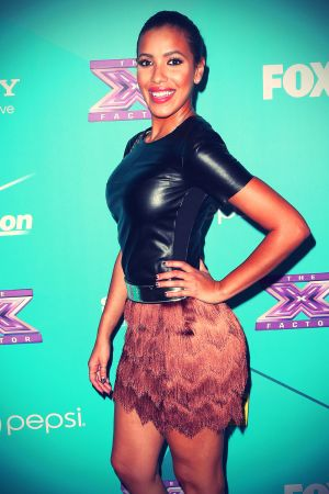 Julissa Bermudez attends Fox The X-Factor Finalists Party