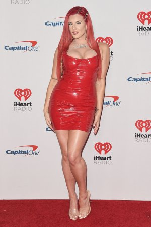 Justina Valentine attends iHeartRadio Music Festival Day 2