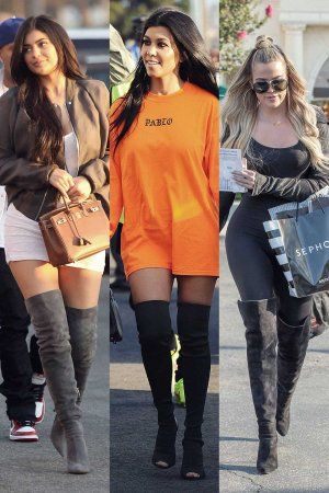 K sisters in over-the-knee boots
