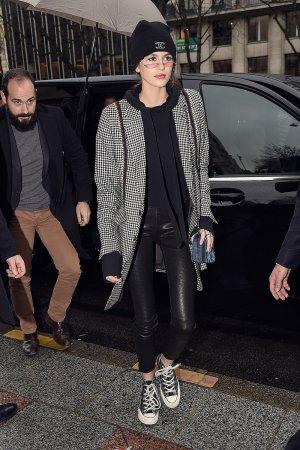 Kaia Gerber arrives at Georges V Hotel