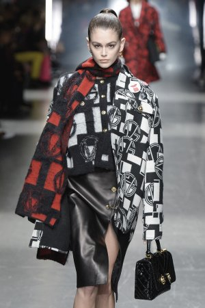Kaia Gerber at Versace Menswear Fashion Show