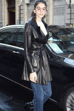 Kaia Gerber is seen out and about in Paris