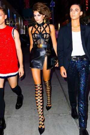 Kaia Gerber out during NYFW