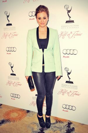 Kaley Cuoco attends The Academy Of Television Arts & Sciences