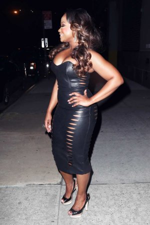Kandi Burruss is seen in in New York City