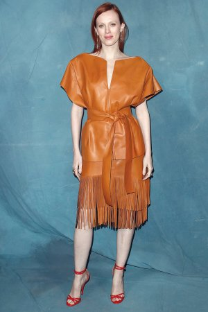 Karen Elson attends Givenchy show