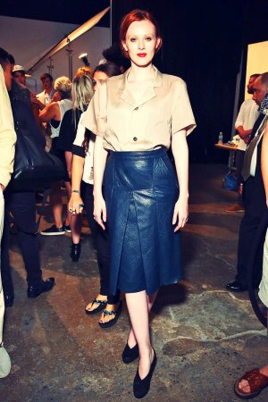 Karen Elson attends New York Fashion Week: Men's S/S 2016