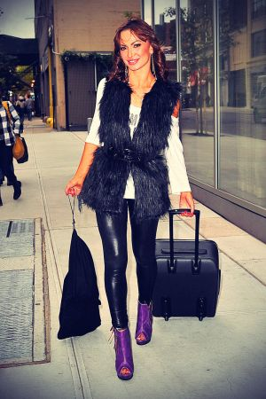 Karina Smirnoff arrived at her NYC hotel