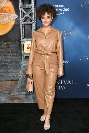 Karla Crome attends Carnival Row TV show premiere