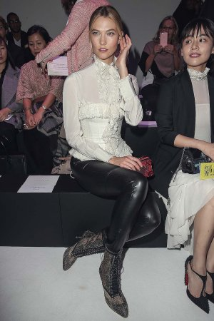 Karlie Kloss attends the Shiatzy Chen show