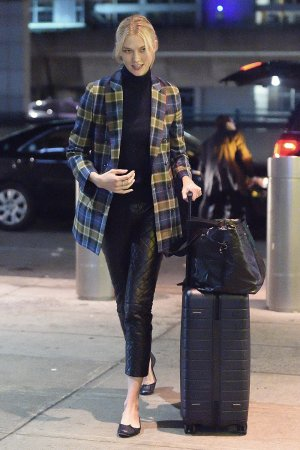 Karlie Kloss arrives at JFK airport