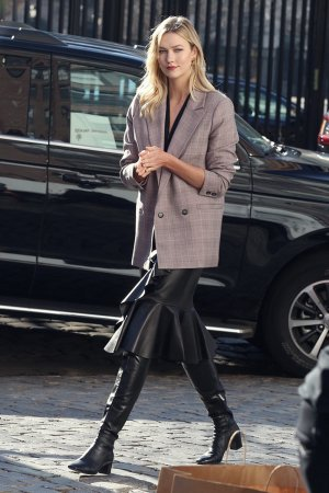 Karlie Kloss at a photoshoot in NYC