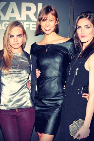 Karlie Kloss attends Melissa Shoes + Karl Lagerfeld Collaboration Dinner party