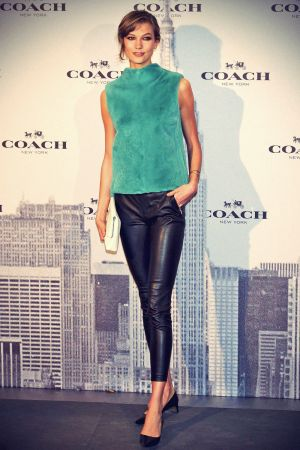 Karlie Kloss attends the Coach Boutique opening