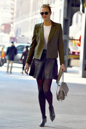 Karlie Kloss is seen in Chelsea