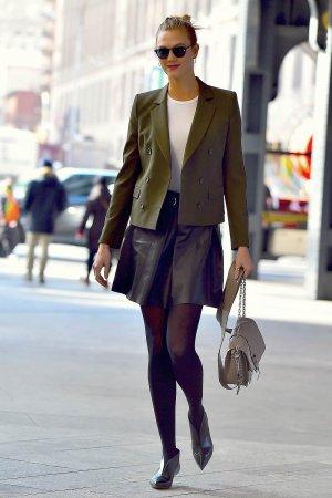 Karlie Kloss is seen in Chelsea
