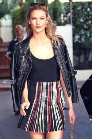 Karlie Kloss leaving Martinez Hotel