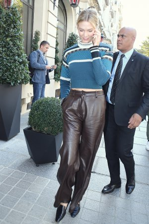 Karlie Kloss out during PFW in Paris