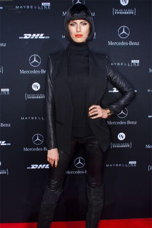Karolina Kurkova attends the Guido Maria Kretschmer show at Berlin Fashion Week
