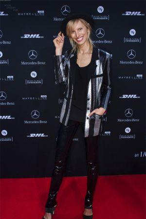 Karolina Kurkova attends the Killian Kerner show at Berlin Fashion Week