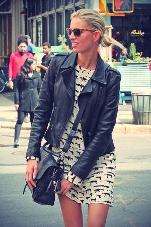 Karolina Kurkova Out for lunch in New York
