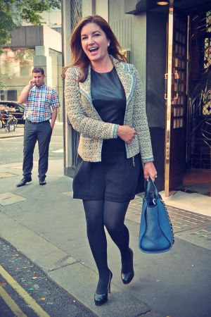 Karren Brady leaving The Ivy Club in London