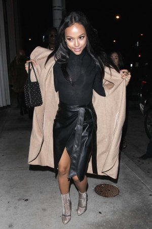 Karrueche Tran goes for dinner In West Hollywood