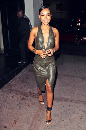 Karrueche Tran out at Beso restaurant