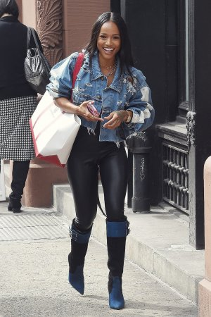 Karrueche Tran out in NYC