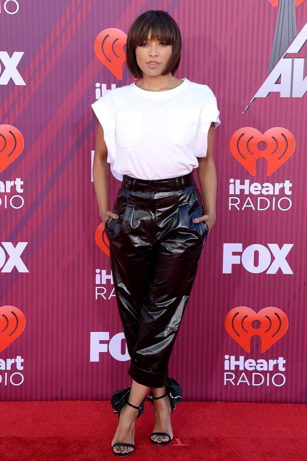 Kat Graham attends 2019 iHeartRadio Music Awards