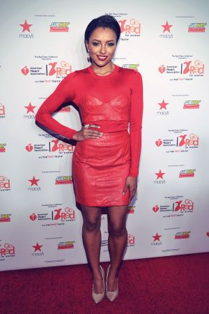Kat Graham attends Go Red For Women The Heart Truth Red Dress