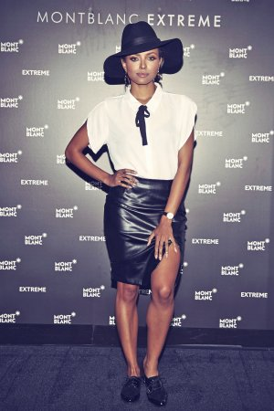 Kat Graham attends Montblanc celebration for grand re-opening of the Atlanta Boutique