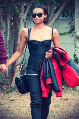 Kat Graham stop by a lot to find a Christmas tree