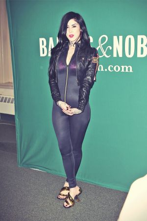 Kat Von D at Barnes and Noble book store