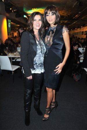 Katarina Witt at Mercedes Benz Fashion Week