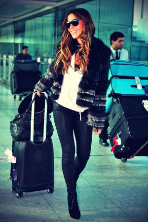 Kate Beckinsale at London's Heathrow Airport
