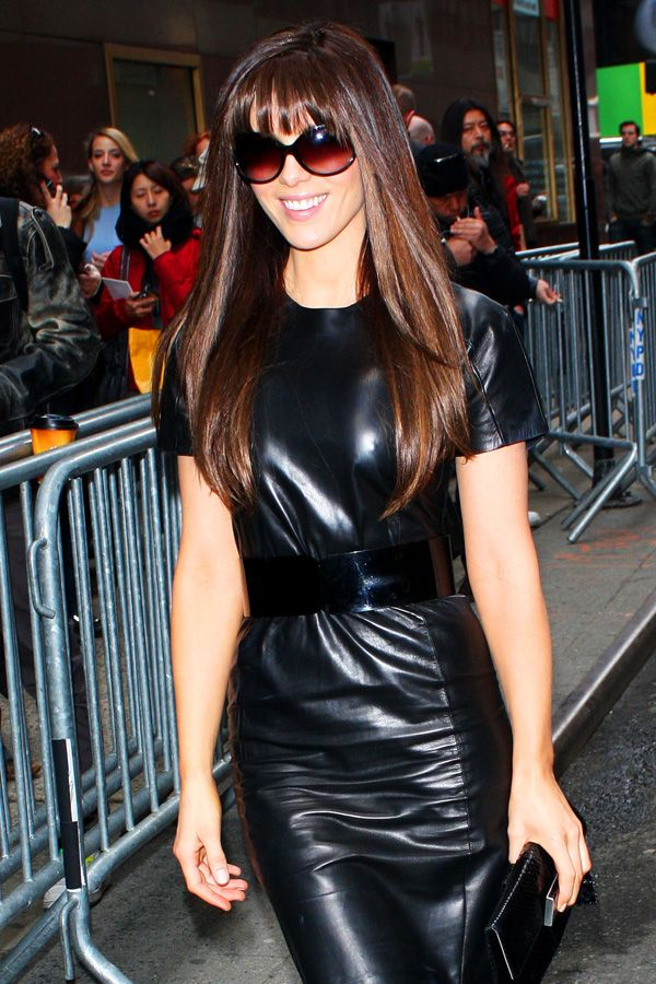 Kate Beckinsale At New York Fashion Week 2009 Leather