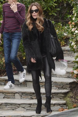 Kate Beckinsale steps out with her mother