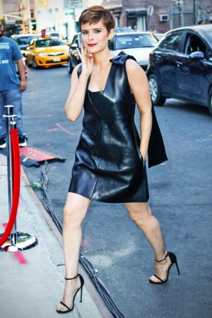 Kate Mara attends Fantastic Four premiere in NYC