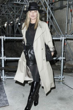 Kate Moss arrivng at The Saint Laurent Fashion Show Fall-Winter