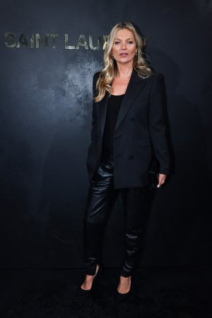 Kate Moss attends Saint Laurent Womenswear fasion show