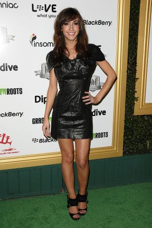 Kate Voegele leather dress