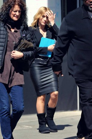 Kate Winslet the set of Collateral Beauty