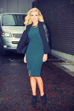 Katherine Jenkins outside The London Studios