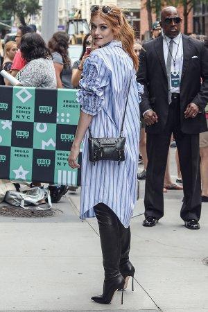 Katherine McNamara spotted leaving AOL BUILD Studios